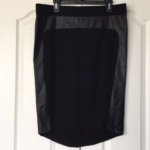 Mossimo pencil skirt with faux leather detail